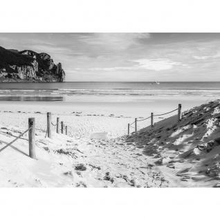 Fototapete Strand Tapete Wasser Meer Weg schwarz - weiß | no. 1850