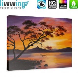 Leinwandbild Sonnenuntergang Baum Natur Romantisch Urlaub | no. 241 - Vorschau 5