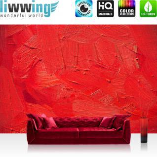 liwwing Vlies Fototapete 350x245 cm PREMIUM PLUS Wand Foto Tapete Wand Bild Vliestapete - WALL OF RED SHADES - Abstrakt Hintergrund Dekoration Wand Spachtel farbige Wand rot - no. 110