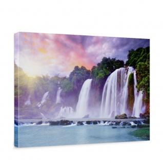 Leinwandbild Wasserfall Bäume Wald Thailand See Wasser Meer Sonne   no. 247