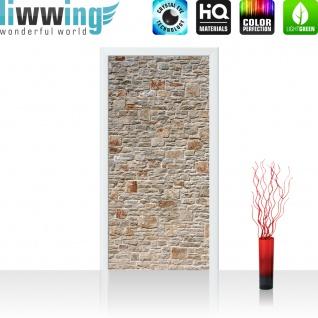 Türtapete - Royal Stone Wall Steinwand Steine Wand Wall 3D Effekt alte Mauer | no. 82 - Vorschau 2