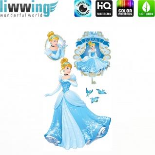 Wandsticker Disney Princesses - No. 4680 Wandtattoo Sticker Kinder Schneewitchen Arielle Cinderella Dornröschen
