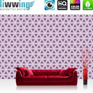 liwwing Vlies Fototapete 312x219cm PREMIUM PLUS Wand Foto Tapete Wand Bild Vliestapete - Kunst Tapete Muster Sterne Blüten Kunst Abstrakt rosa - no. 1614