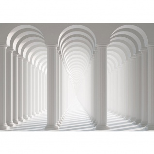 Fototapete Architektur Tapete Säulen Architektur Gasse Weg Bogen Schatten Licht weiß   no. 2030