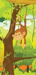 Türtapete - Jungle Animals Monkeys Kinderzimmer Safari Comic Affen Dschungel   no. 94 - Vorschau 5