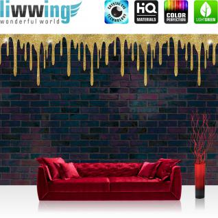 liwwing Vlies Fototapete 312x219cm PREMIUM PLUS Wand Foto Tapete Wand Bild Vliestapete - Kindertapete Tapete Hello Kitty Katze Illustration Mädchen Kindertapeten blau - no. 2543