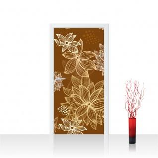 Türtapete - Abstrakt Blüten | no. 1108