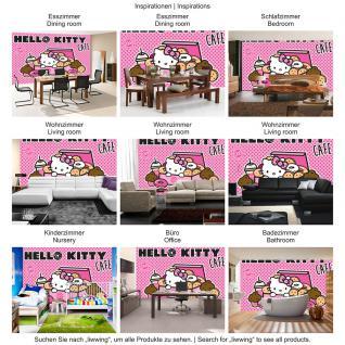 liwwing Fototapete 254x168 cm PREMIUM Wand Foto Tapete Wand Bild Papiertapete - Mädchen Tapete Hello Kitty - Kindertapete Cartoon Katze Donuts Kuchen pink - no. 506 - Vorschau 5