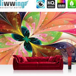 liwwing Fototapete 368x254 cm PREMIUM Wand Foto Tapete Wand Bild Papiertapete - Kunst Tapete Abstrakt Design Muster Malerei Farben bunt - no. 2314