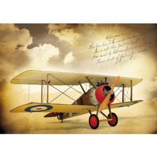 Fototapete Himmel Tapete Doppeldecker, Flugzeug, Himmel, Vintage sepia   no. 3384