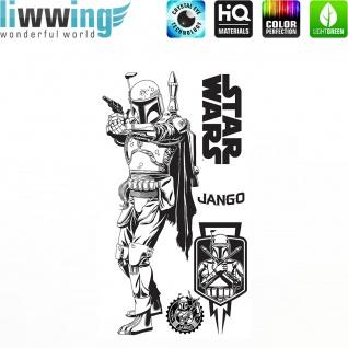 Wandsticker Disney Star Wars - No. 4667 Wandtattoo Sticker Kinderzimmer Laserschwert Weltall Raumschiffe Jungen