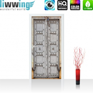Türtapete - Sonstiges Tür Holz Antik Alt Kette | no. 4283 - Vorschau 2
