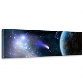 Leinwandbild Erde Weltraum Planet Meteoriten Blau | no. 232