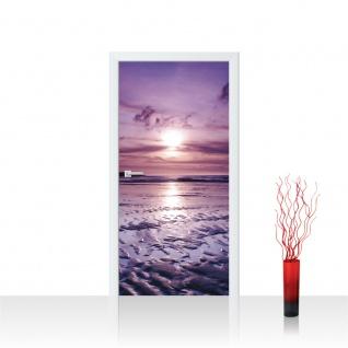 Türtapete - Meer Strand Himmel Sonnenuntergang | no. 310