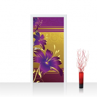 Türtapete - Abstrakt Ornamente Blumen | no. 573