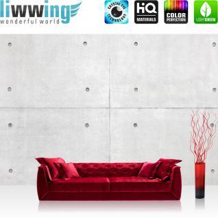 liwwing Vlies Fototapete 312x219cm PREMIUM PLUS Wand Foto Tapete Wand Bild Vliestapete - Steinwand Tapete Steinoptik Stein Platten große Steine weiß - no. 2966