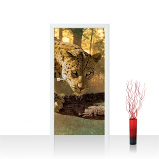 Türtapete - Gepard Baum   no. 728
