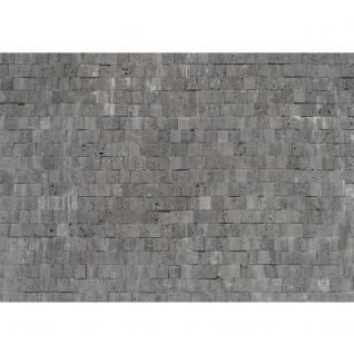 liwwing Vlies Fototapete 200x140 cm PREMIUM PLUS Wand Foto Tapete Wand Bild Vliestapete - Steinwand Tapete Steinmauer Steinwand Steinoptik grau - no. 695 - Vorschau 2