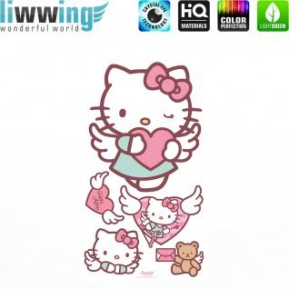 Wandsticker Sanrio Hello Kitty - No. 4626 Wandtattoo Sticker Kinderzimmer Katze Cartoon Kindersticker Mädchen