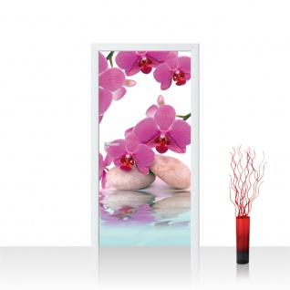 Türtapete - Steine Orchidee Wasser | no. 413
