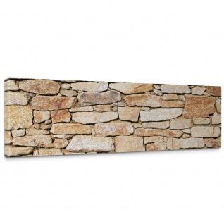 Leinwandbild Steinwand Steinoptik Steine Wand Mauer Stein | no. 163