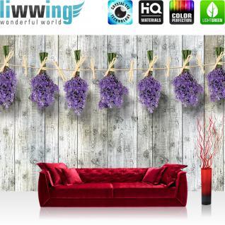 liwwing Vlies Fototapete 416x254cm PREMIUM PLUS Wand Foto Tapete Wand Bild Vliestapete - Holz Tapete Lavendel Holzbretter Holzwand Holz lila - no. 1352