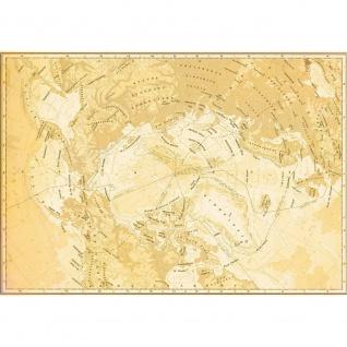 Fototapete Städte & Länder Tapete Landkarte Karte Kontinent Vintage Globus Atlas Reise gelb | no. 4311