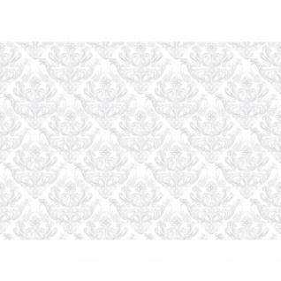Fototapete Ornamente Tapete Ornamente Muster weiß grau weiß   no. 373