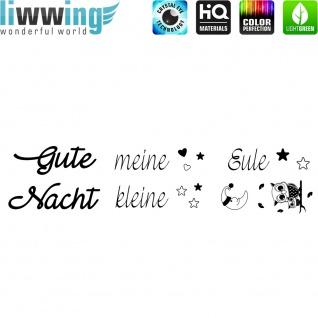 Wandsticker - No. 4844 Wandtattoo Sticker Gute Nacht Schlafen Schrift Spruch Sprüche