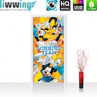 liwwing Türtapete selbstklebend 91x211 cm PREMIUM PLUS Tür Fototapete Türposter Türpanel Foto Tapete Bild - DISNEY Mickey Mouse Kindertapete Comic - no. 314
