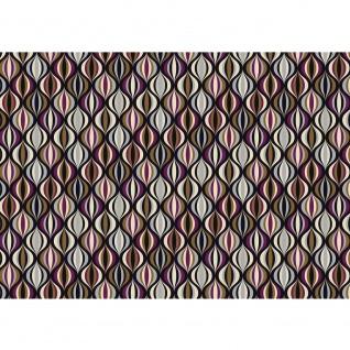 Fototapete Gemälde & Kunstwerke Tapete Abstraktion Bänder Geometrie Modern braun | no. 4394
