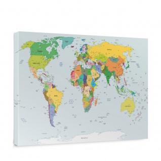 Leinwandbild Weltkarte Landkarte Erde Globus Kontinente | no. 5138