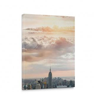 Leinwandbild Skyline Empire State Building Hudson River | no. 3343