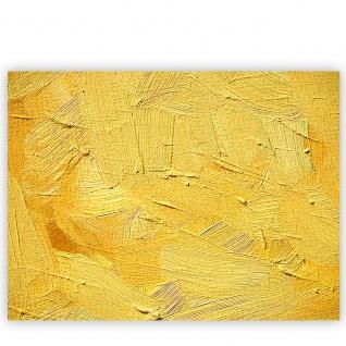 Leinwandbild Wall of yellow shades Wand Spachtel Hintergrund farbige Wand gelb   no. 107 - Vorschau 2