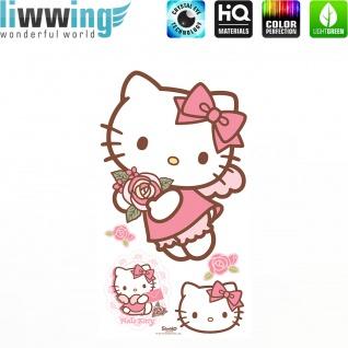 Wandsticker Sanrio Hello Kitty - No. 4625 Wandtattoo Sticker Kinderzimmer Katze Cartoon Kindersticker Mädchen