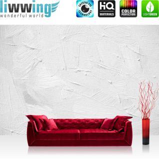 liwwing Vlies Fototapete 300x210 cm PREMIUM PLUS Wand Foto Tapete Wand Bild Vliestapete - WALL OF WHITE SHADES - Abstrakt Hintergrund Dekoration Wand Spachtel farbige Wand weiß - no. 111