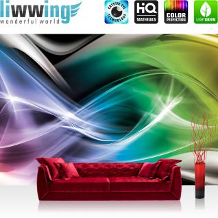 liwwing Vlies Fototapete 104x50.5cm PREMIUM PLUS Wand Foto Tapete Wand Bild Vliestapete - Illustrationen Tapete Illustration Abstrakt Muster bunt - no. 3162
