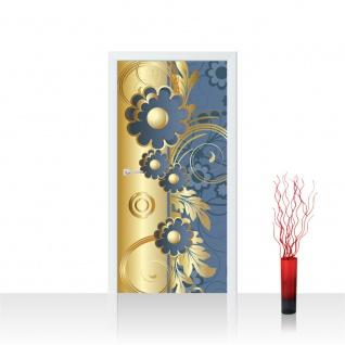 Türtapete - Abstrakt Ornamente Blumen | no. 544