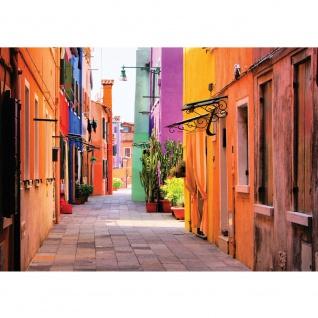 Fototapete Architektur Tapete Gasse, Altstadt, mediterran, farbenfroh natural   no. 3467
