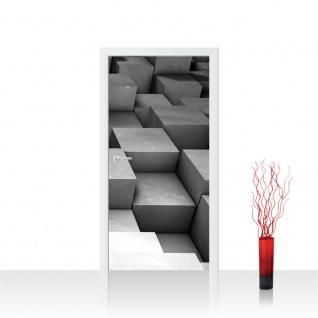 Türtapete - Abstrakt Würfel 3D | no. 765