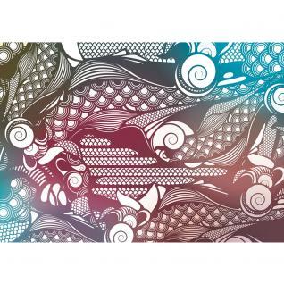 liwwing Vlies Fototapete 350x245 cm PREMIUM PLUS Wand Foto Tapete Wand Bild Vliestapete - Wasser Tapete Wasserfall Bäume Meer Himmel Sommer Urlaub blau - no. 355 - Vorschau 2
