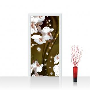 Türtapete - Ornament Orchidee Diamanten | no. 684