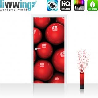 Türtapete - Abstrakt Kugel Murmel Beere Fenster 3D | no. 768 - Vorschau 2