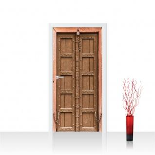 Türtapete - Sonstiges Tür Holz Alt Antik Kette | no. 4284