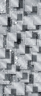 Türtapete - Abstrakt Rechtecke Platten Nieten 3D Optik   no. 883 - Vorschau 5