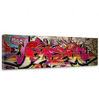 Leinwandbild Kinderzimmer Graffiti Streetart Graffitti Sprayer 3D bunt | no. 220