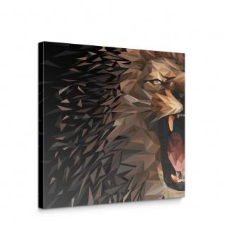 Leinwandbild Löwe Abstraktion Geometrie Katze Tiger | no. 4567