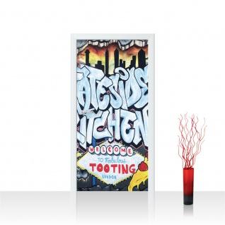 Türtapete - Kindertapete Graffiti Schriftzug | no. 600