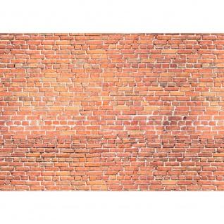 Fototapete Red Brick Stone Wall - ENDLOS anreihbare Tapete Steinwand Steinoptik Steine Wand Wall rot   no. 136