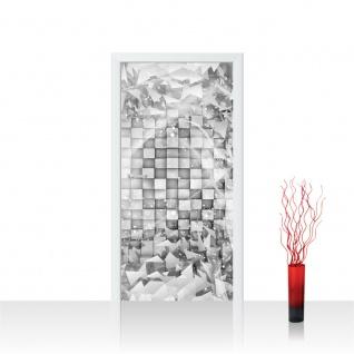 Türtapete - Abstrakt Dreieck Quadrat Würfel 3D Optik | no. 882